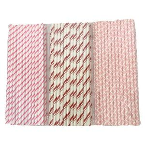 Other - 🍂3 New Pkg's Paper Party Straws. 75 Straws total.